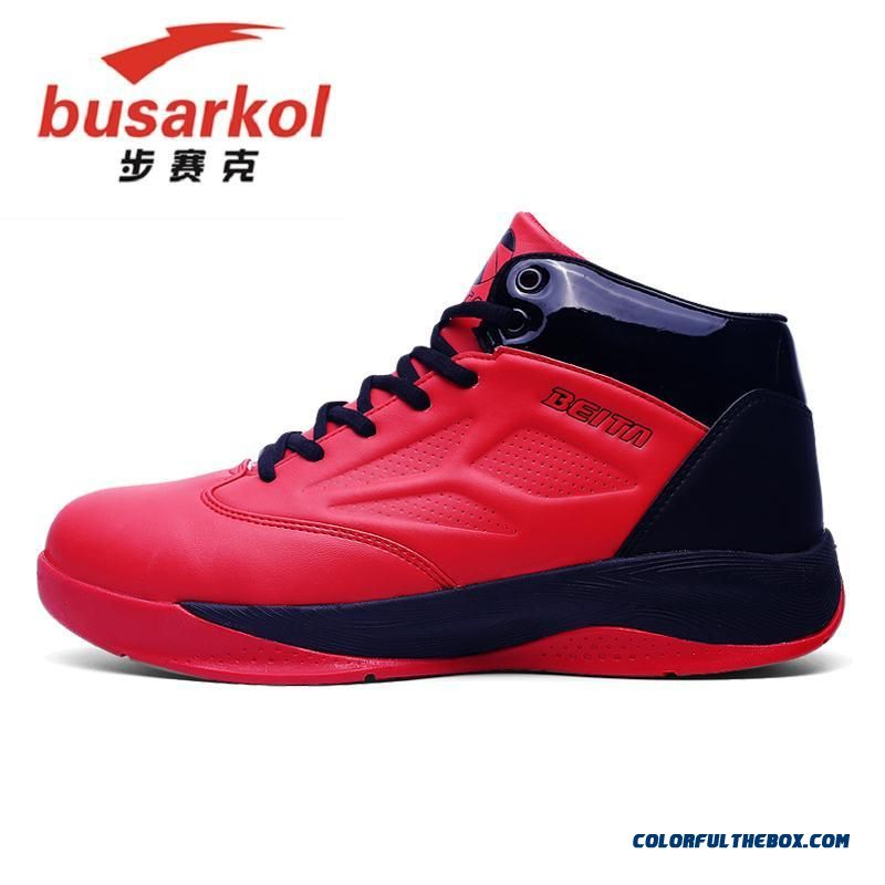 Men's Basketball Shoes Comfortable Breathable Black And Red Color - more images 1