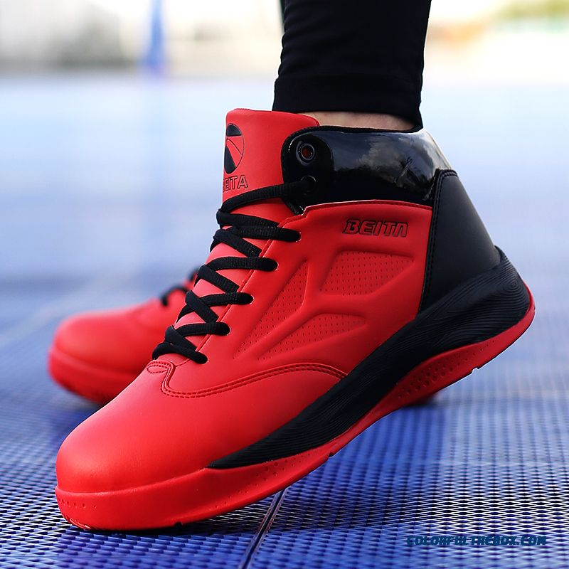 Men's Basketball Shoes Comfortable Breathable Black And Red Color - more images 2