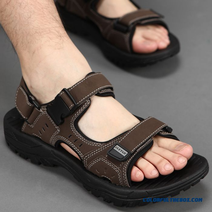 Men's Beach Shoes Summer Sandals New Large Size Outdoor Sports - more images 1