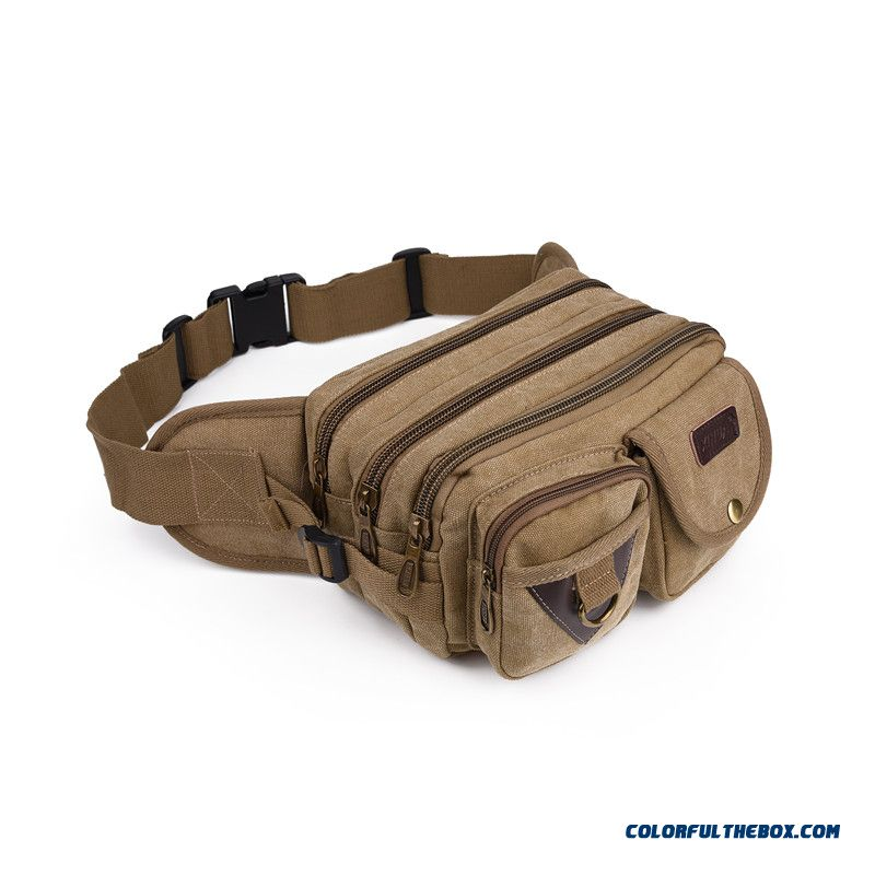 Men's Canvas Bag Multifunctional High-capacity Couples Bags Denim Fabric Waist Packs