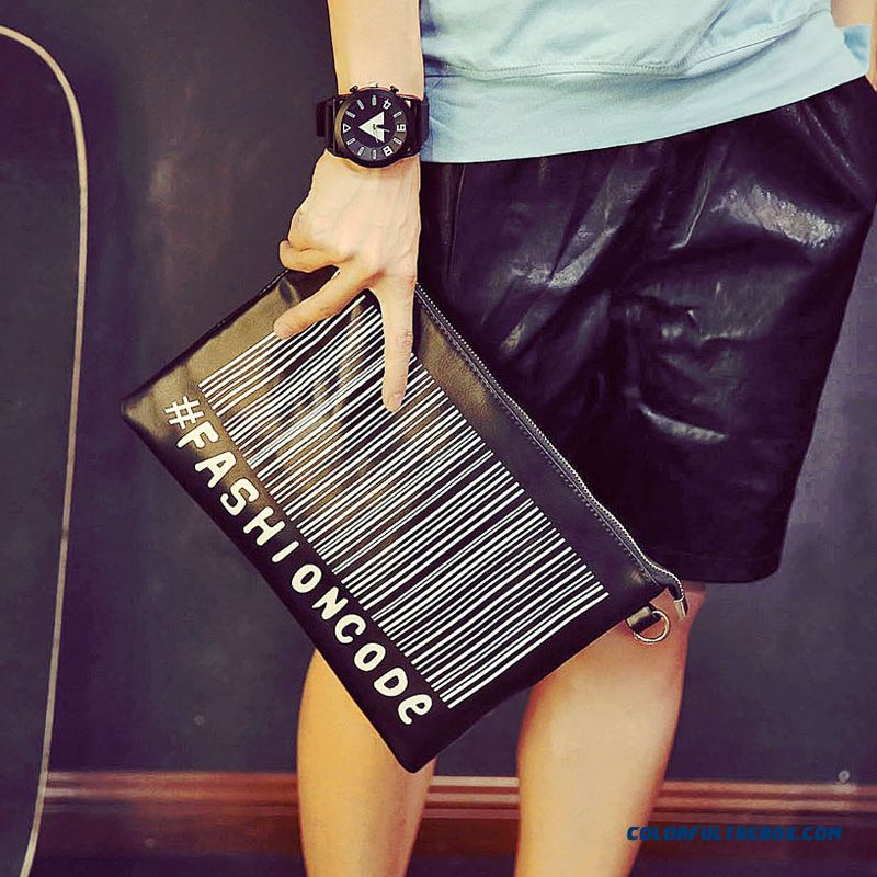 Men's Long Wallet Soft Genuine Leather Handbag Handbag Retro Personality Clutch Briefcase