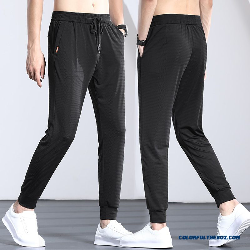Men's Pants Quick Dry Summer Breathable Loose Sport Black Elasticity Ultra Leisure
