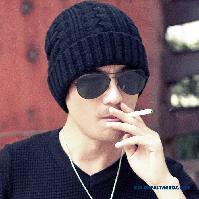 Cheap Men s Soft And Heavy Knitting Twisted Retro Elements Rock Style Ski  Hat Sale Online 3f91218bb9e7