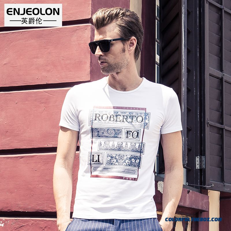 Men's Summer New European And American Style Retro Personality Short-sleeved Summer Tees