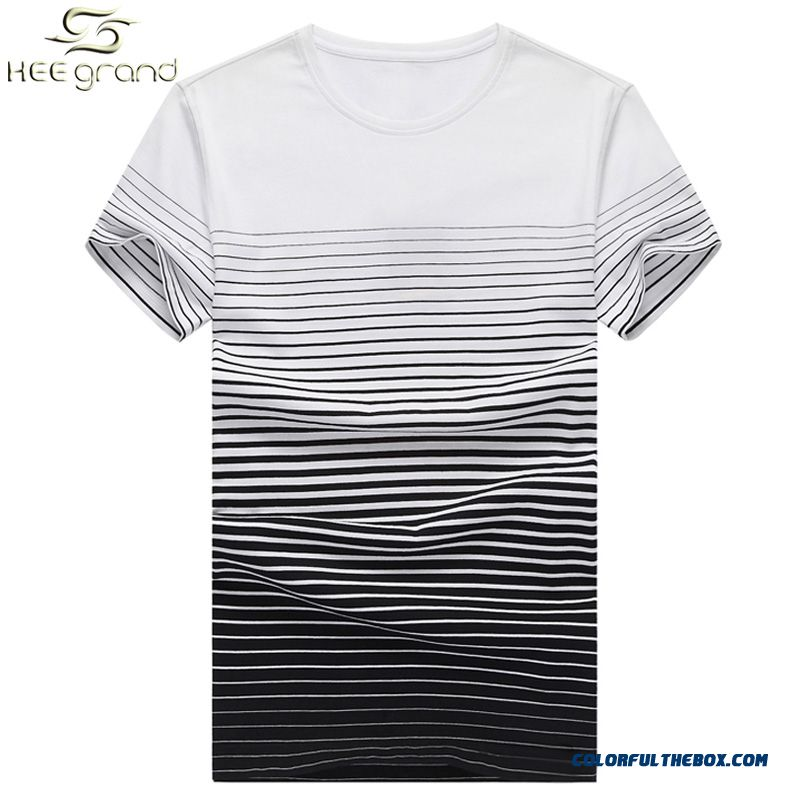 Men's T-shirts Short Sleeve 2016 Hot Sale Fashion Striped Casual Slim O-neck Collar Camisetas S-xxl Size Wholesale Mts1355