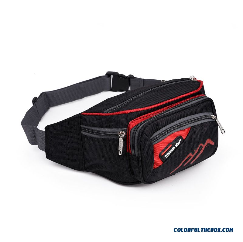 Men's Waist Packs Female Waist Packs Oxford Cloth Multilayer Waist Packs Travel Bags