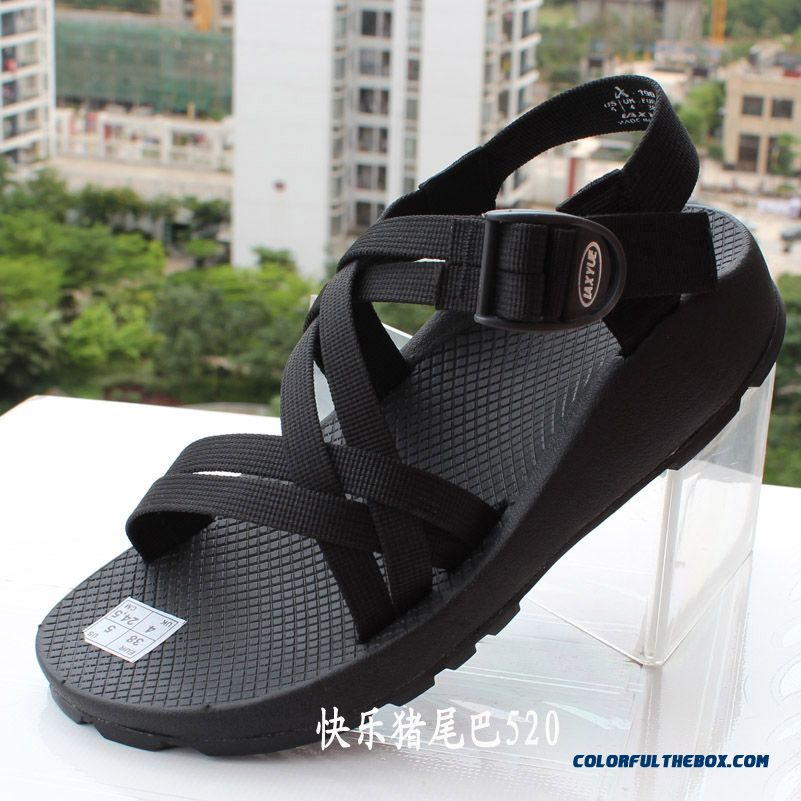 Men's Wear Resistant Increased Heavy-bottomed Sandals Summer Shoes
