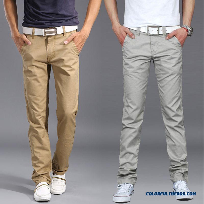 Men's Winter Thin Clothing Korean Version Slim Pants Casual Business Straight Pants Tide