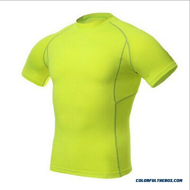 Mens Sports Athletic Tops Compression Shirt Base Layer Short Sleeve T-shirts