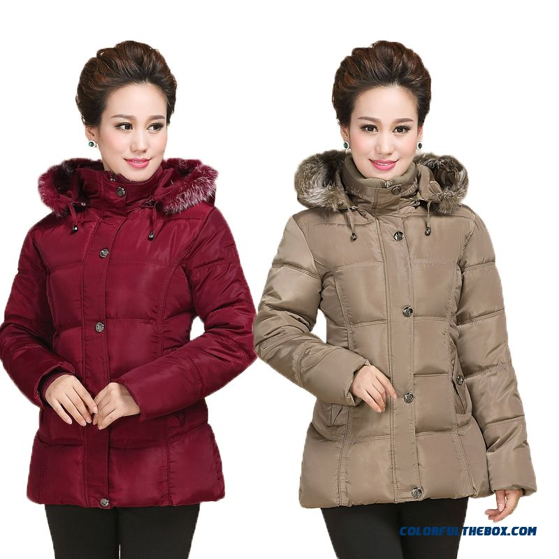 Middle Aged And Elderly Women Winter Coat Jacket Thick Padded Winter Models Thicken Short
