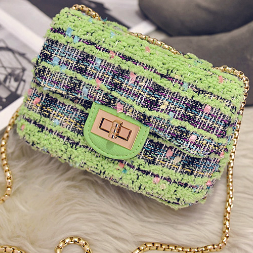 Mini Small Side Chain Woolen Crossbody Bags Big Promotion For Women