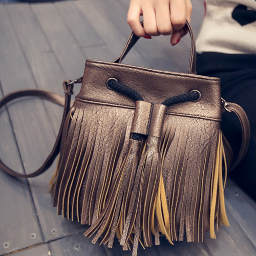 Mini Women Small Bag Simplicity Bucket Bag Fringed Shoulder Bags