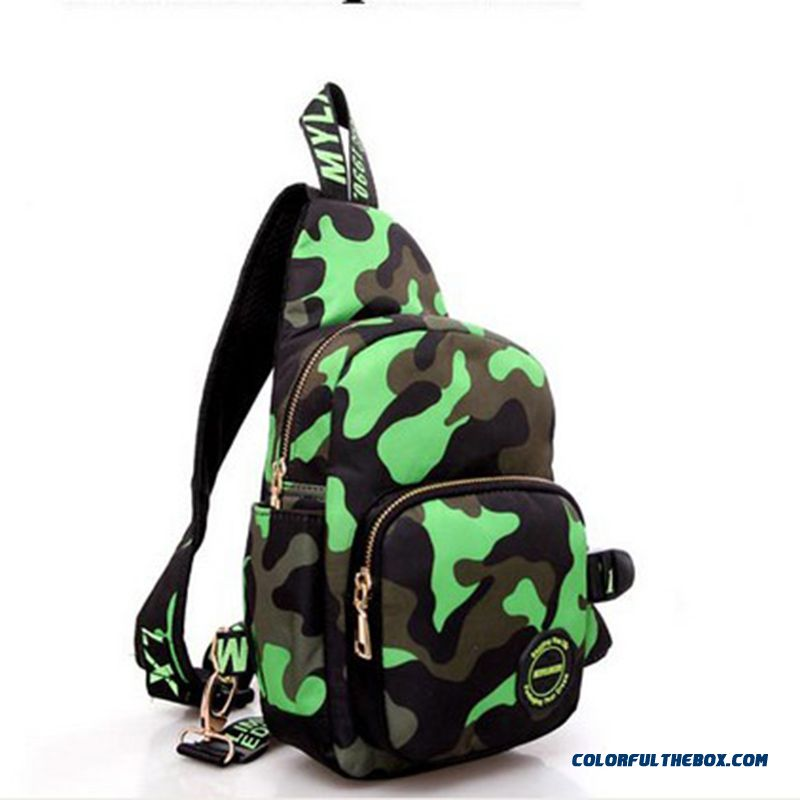 Most Popular Men's Crossbody Bags Camouflage Canvas Bag Fashion Free Shipping