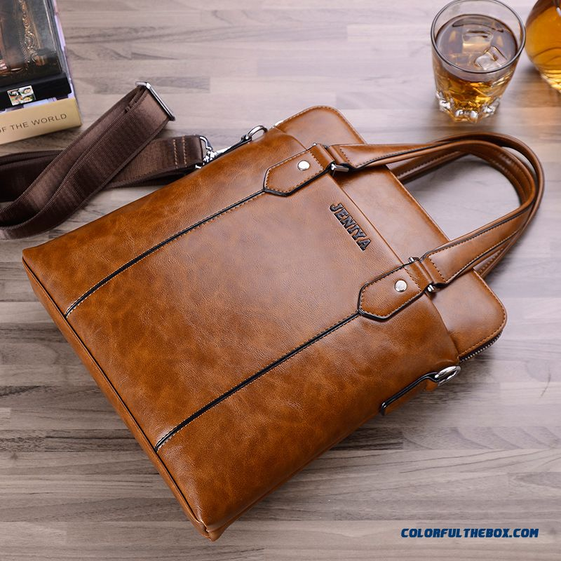 Multi-purpose Genuine Leather Men's Bag Men Handbag Vertical Style Of Briefcase