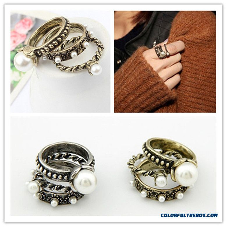 Multilayer All-match Pearl Ring Women Fashion Boutique Jewelry