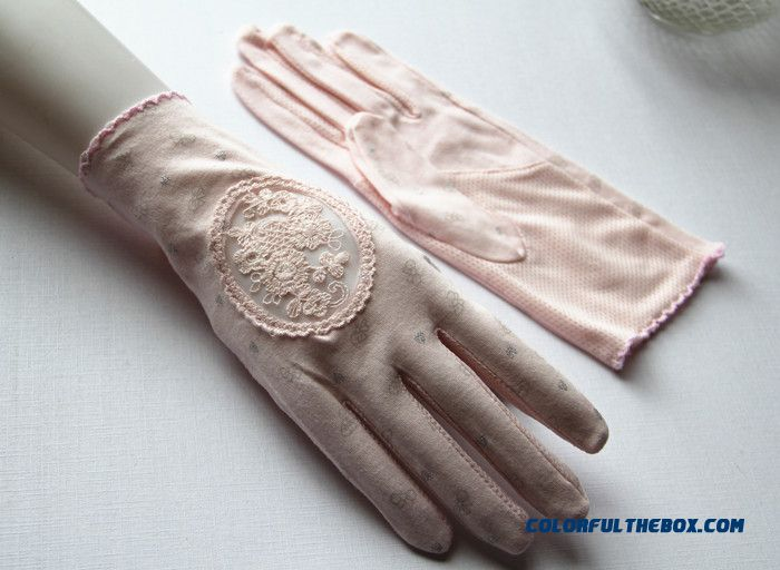 New Accessories Summer Womn Pure Cotton Openwork Lace Finger Mittens Sunscreen Gloves Mittens