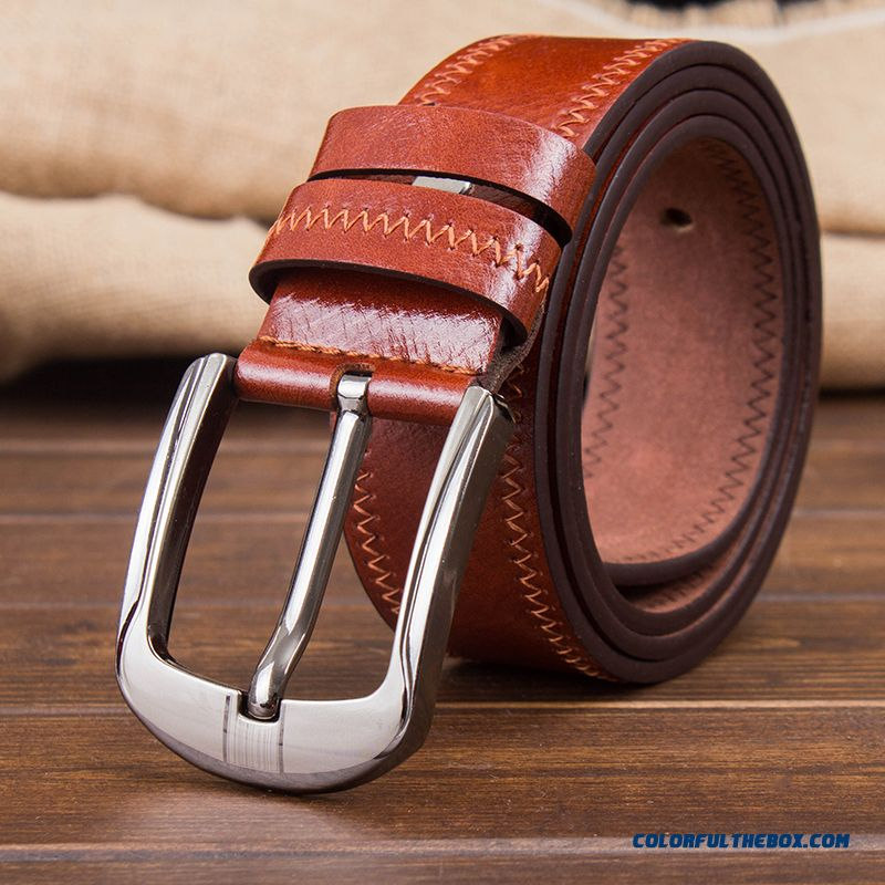 New All-match Decorative Leisure Belts Soft Surface Belt Pin Buckle Youth Simple For Men