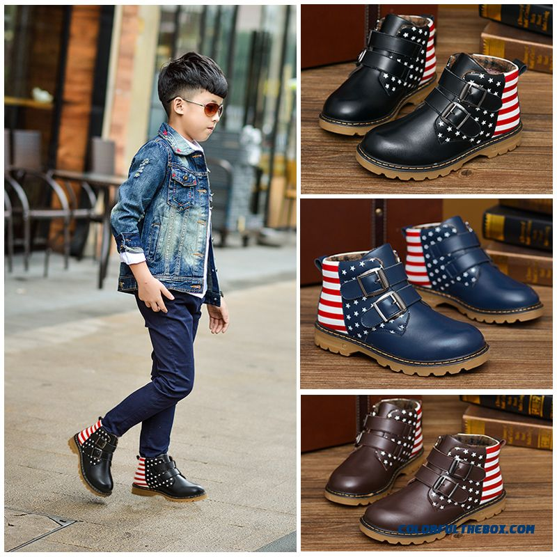 New American Flag Boys Winter Warm Shoes Clearance Boys Boots