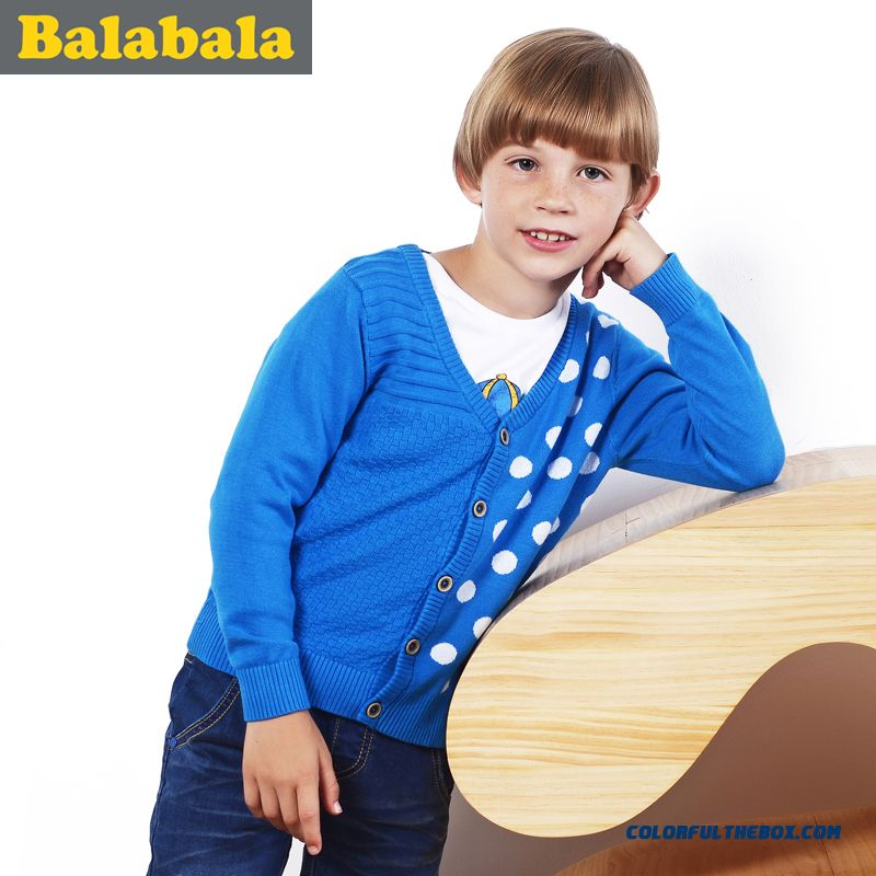 New Arrival Balabala Kids Boy Big Kids Sweater Thin Spring Clothing Hign Qualitt Comfortable