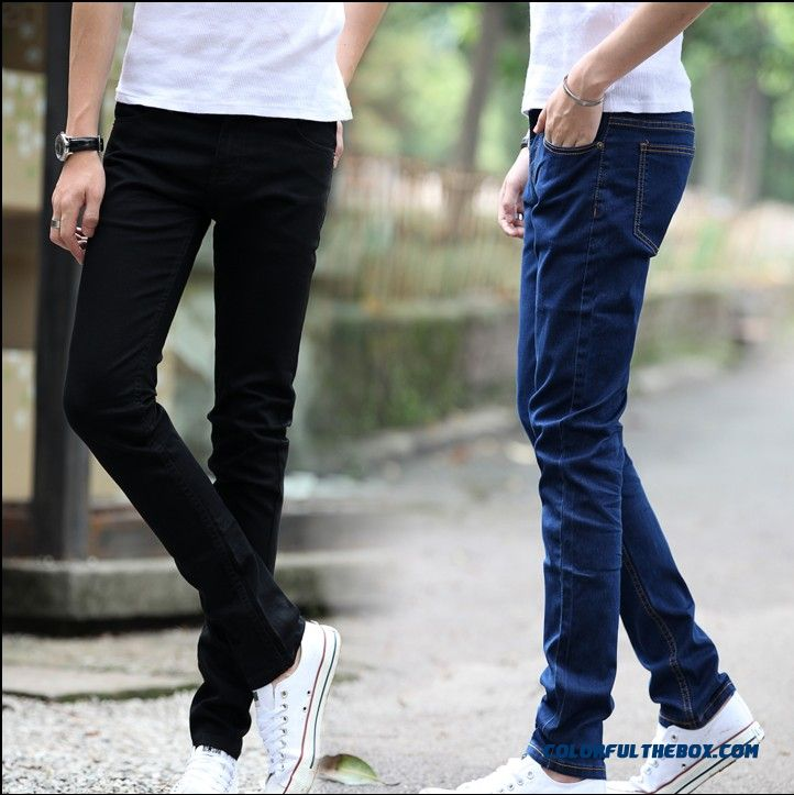 New Arrival Plus Thick Velvet Men's Slim Jeans Cheap