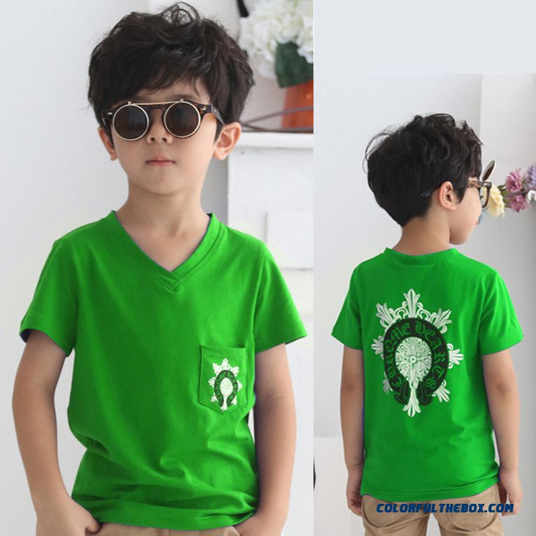 New Arrival Round Neck Clothing Child Kids Boys Summer Short-long Sleeved Boutique Fabrics T-shirts