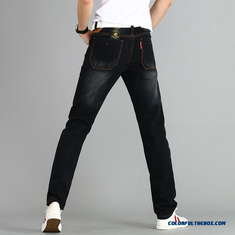 New Arrival Slim Broken Hole Jeans Men Straight Large Size