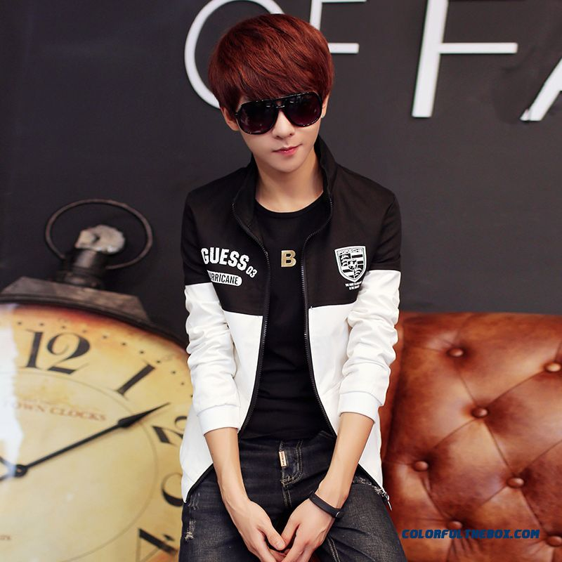 New Arrival Top Sale New Autumn Men Stand Collar Popular Black Young Jacket