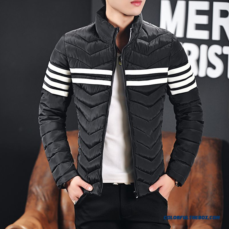 Cheap New Arrival Winter Men Coats Stand Collar Black Slim Down ...