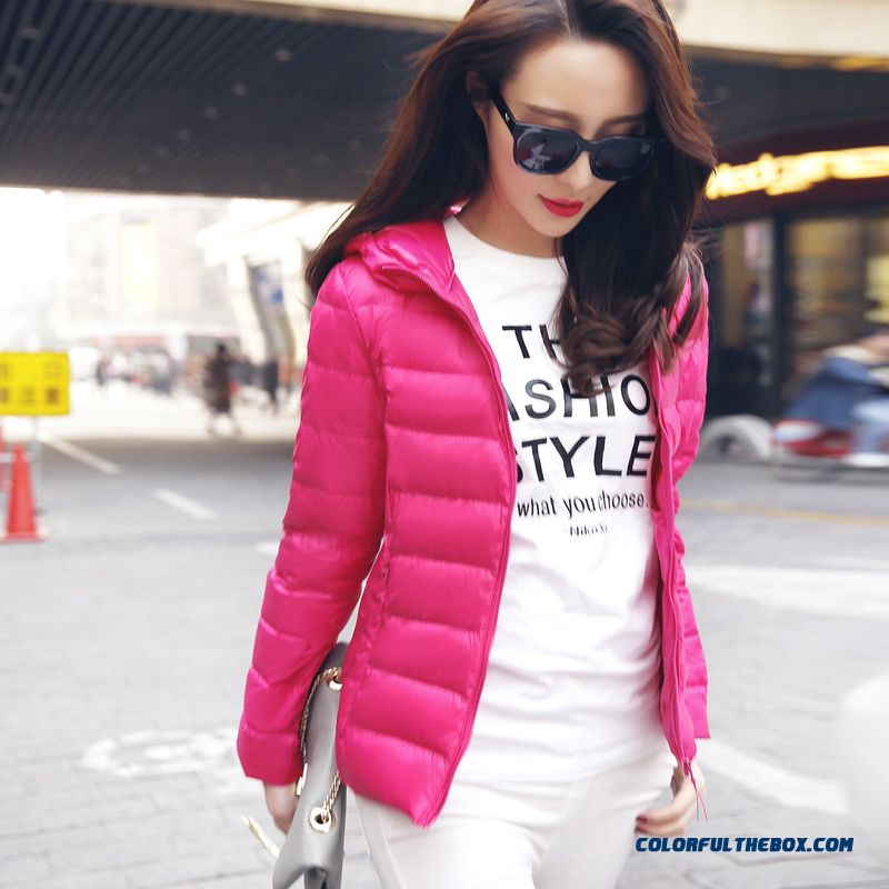New Arrival Winter Women Hooded Coats Thin Slim Green Rose Black Promotion