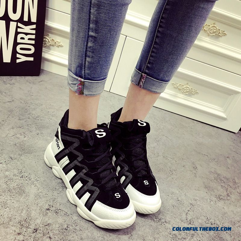 New Arrival Women Casual Shoes Thick Bottom Within The Higher Breathable - more images 1