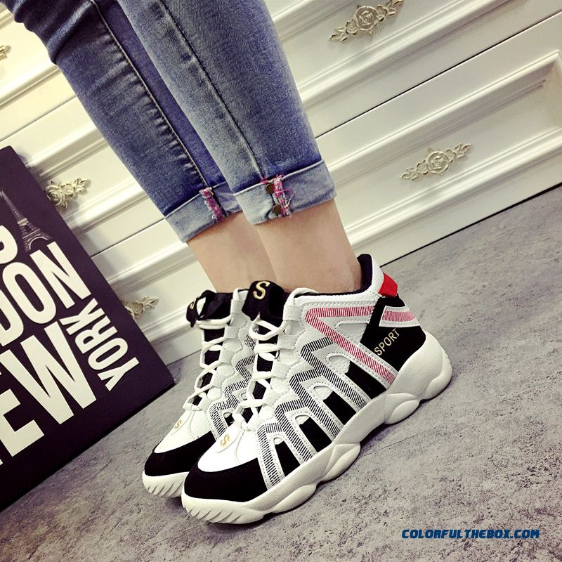 New Arrival Women Casual Shoes Thick Bottom Within The Higher Breathable - more images 3