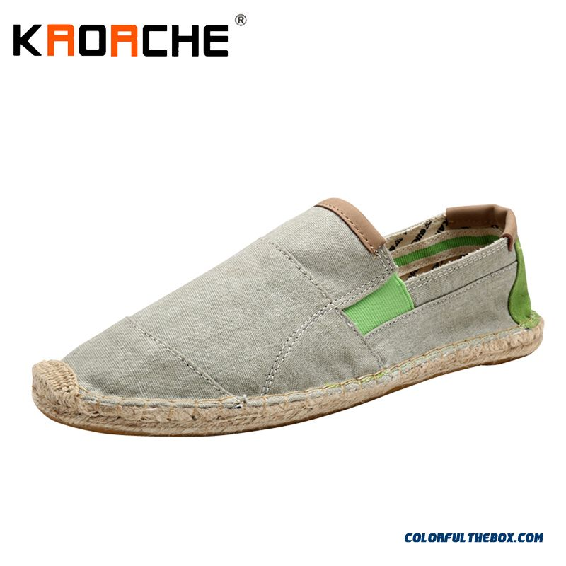 New Arrivals Men Canvas Flat Shoes Fashion Espadrille Summer Cool Lightweight Man Loafer Shoes Lazy Wholesale Cheap