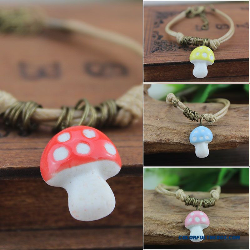 New Arrivals Women Boutique Bracelets Small Mushroom Jewelry Bangles