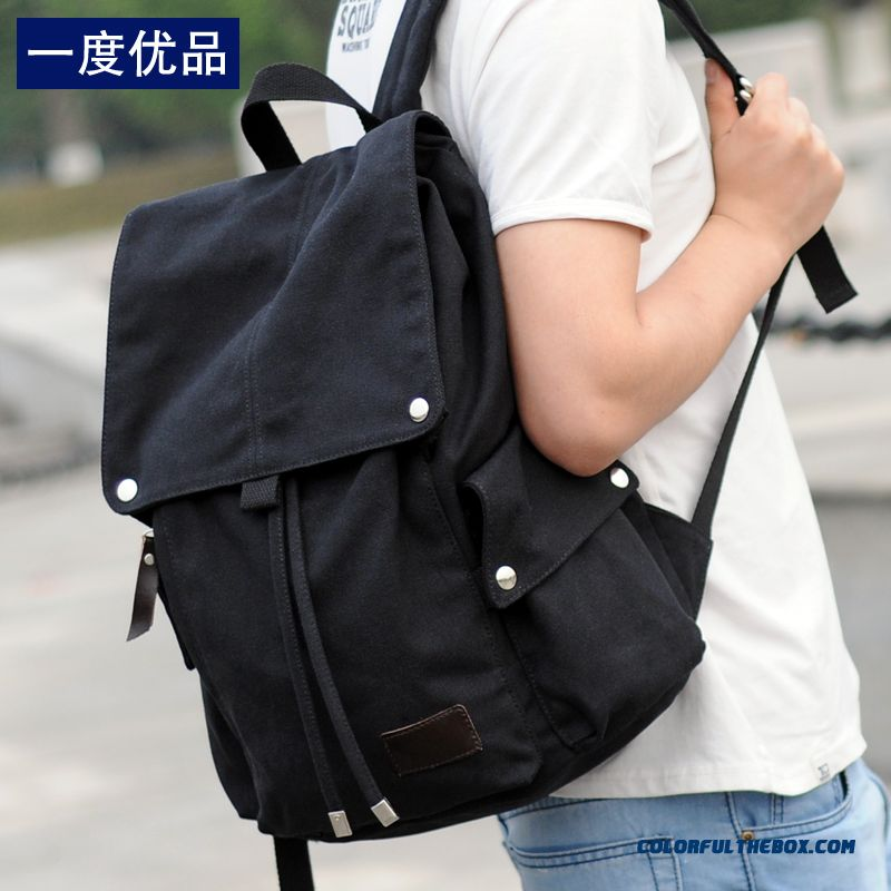 New Arrovaled Wear-resisting Cavvas Backpack Leisure Travel Bagused By Men