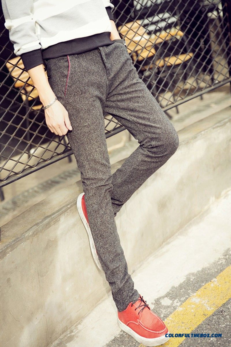 New Autumn And Winter Fashion Linen Straight Slim Casual Men Pants Special Offer Free Shipping - more images 2