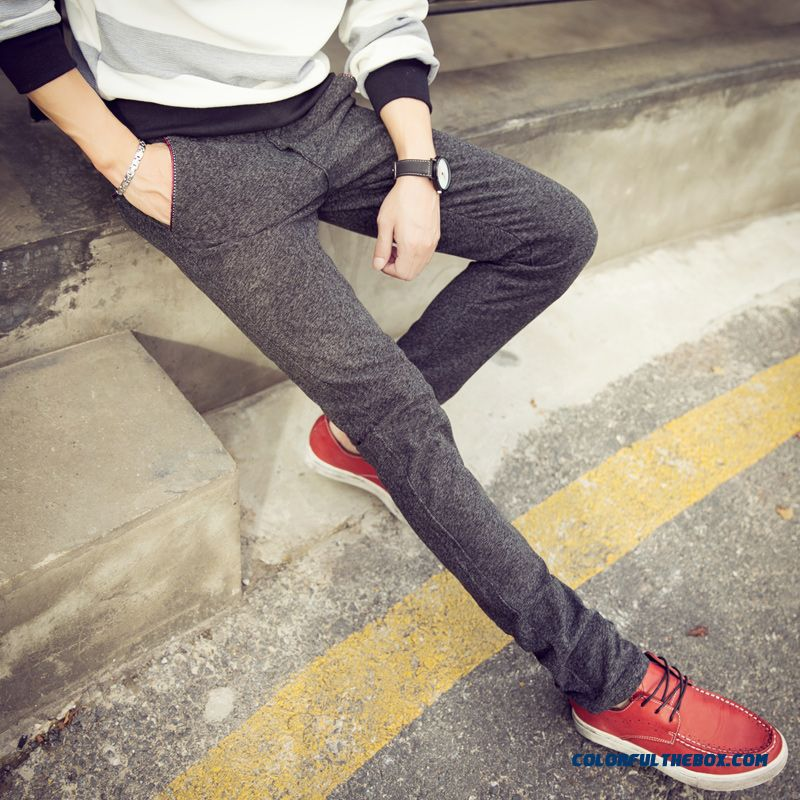 New Autumn And Winter Fashion Linen Straight Slim Casual Men Pants Special Offer Free Shipping - more images 3