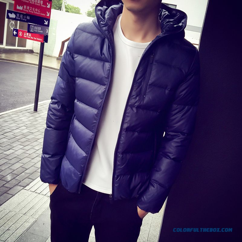 New Autumn And Winter High Quality Men Large Size Keep Warm Hooded Dowm Jacket