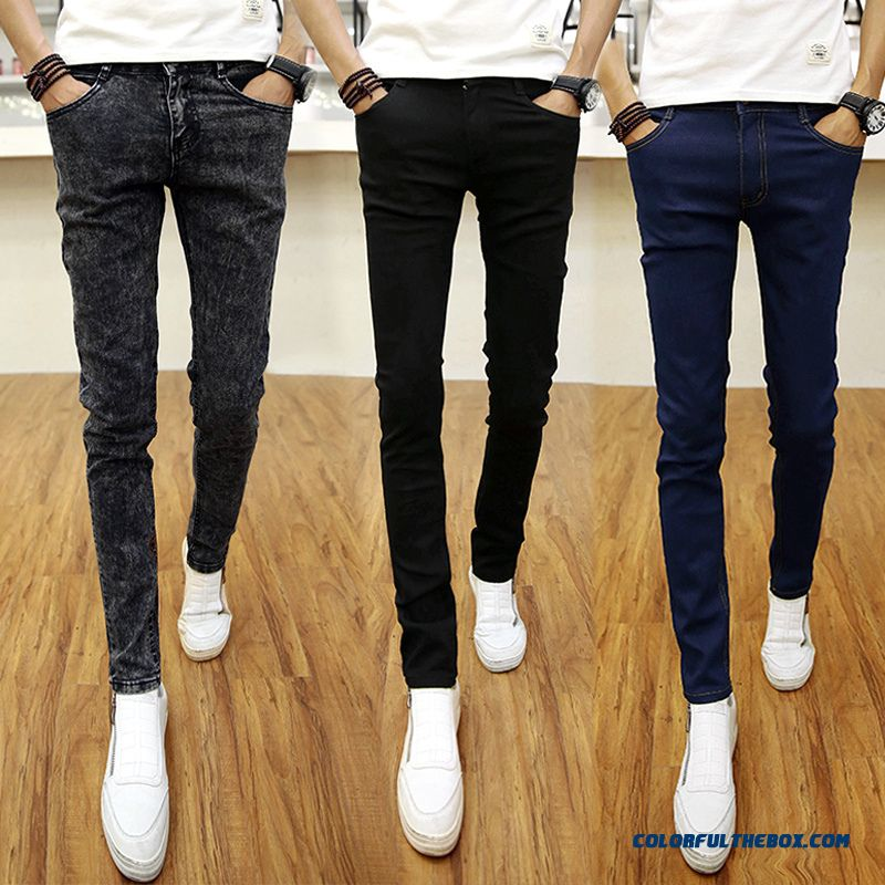 New Autumn And Winter Men Harem Penci Jeams Slim Elasticl Tide