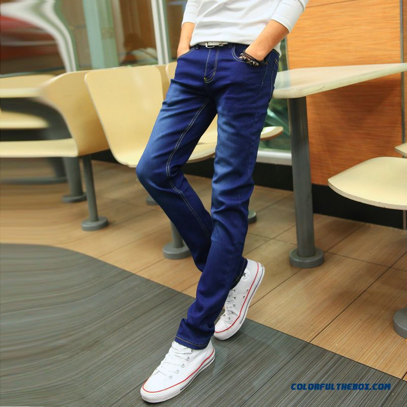 New Autumn And Winter Slim Casual Elastic Skinny Jeans Tide