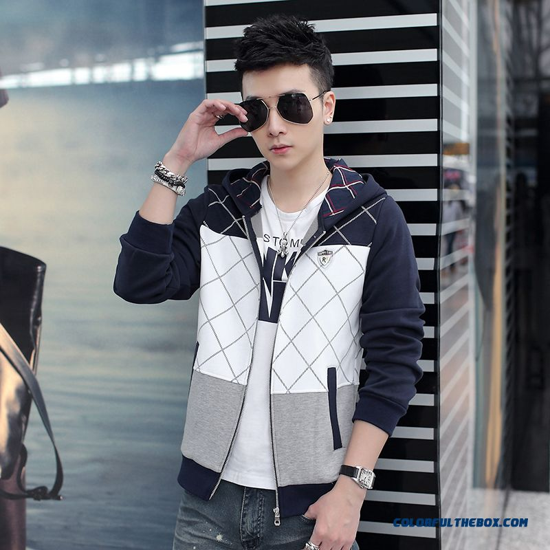 New Autumn Brand Fashion Men Hooded Coats Casual Thin Free Shipping