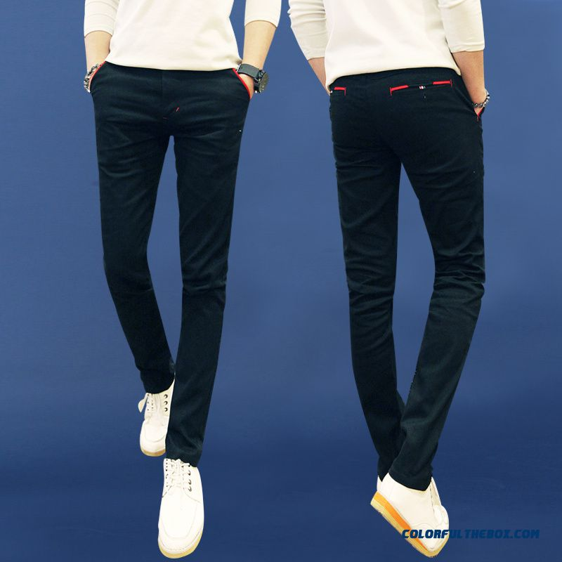 New Autumn Cotton Casual Pants Micro-elastic Tide Large Size Straight Cheap