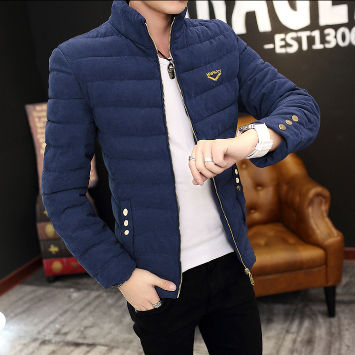 New Autumn Top Sale Men Stand Collar Casual Slim Coat Keep Warm