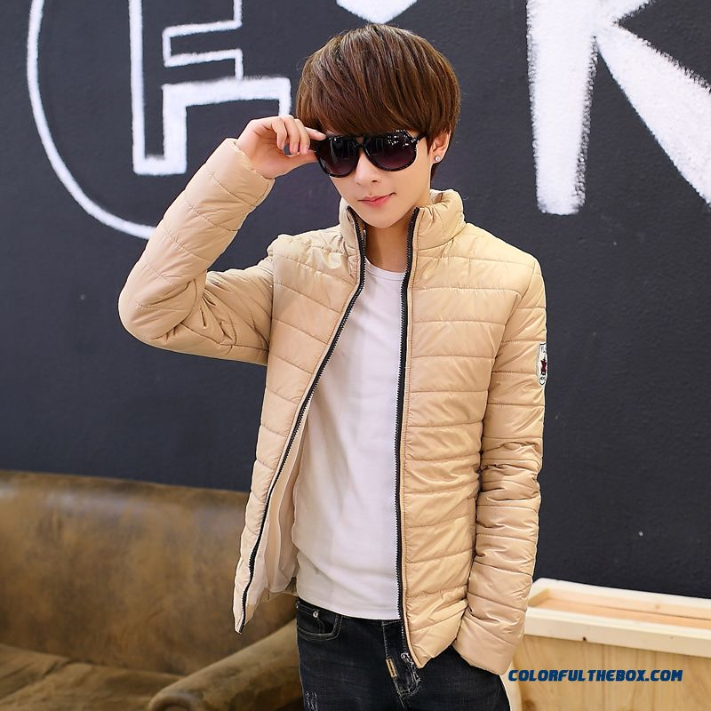 New Autumn Winter Cheap Men Thicken Khaki White Black Keep Warm Coats Tide