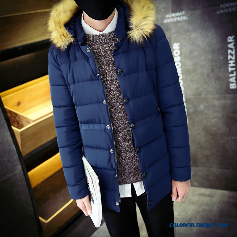 New Autumn Winter Hot Selling Hooded Fur Collar Thicken Keep Warm Coats