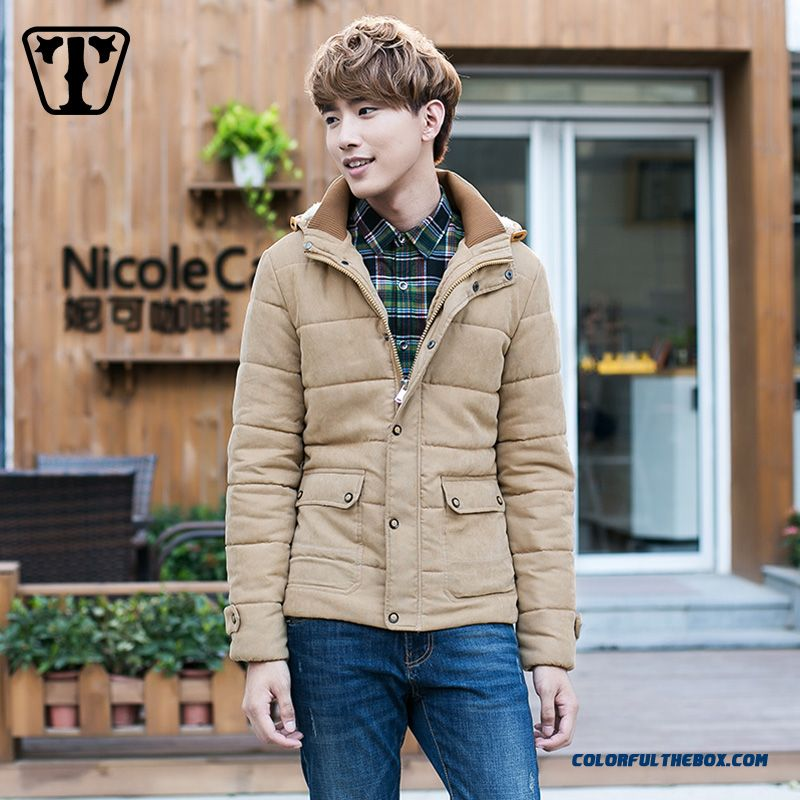 New Autumn Winter Hot Selling Hooded Medium Style Thicken Khaki Coats