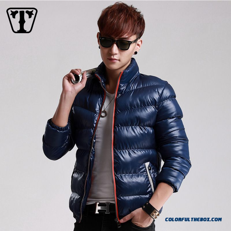 New Autumn Winter Hot Selling Tide Thicken Blue Red Black Large Size Coats Young - more images 1