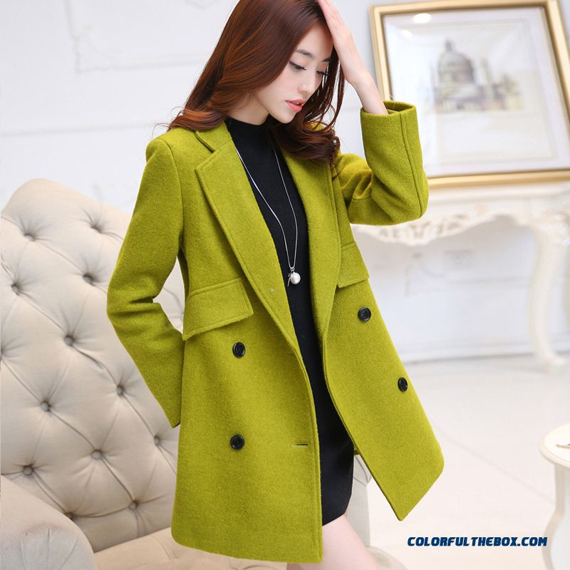 New Autumn Winter Women Woolen Coats Long Sleeve Large Larhe Size Vogue