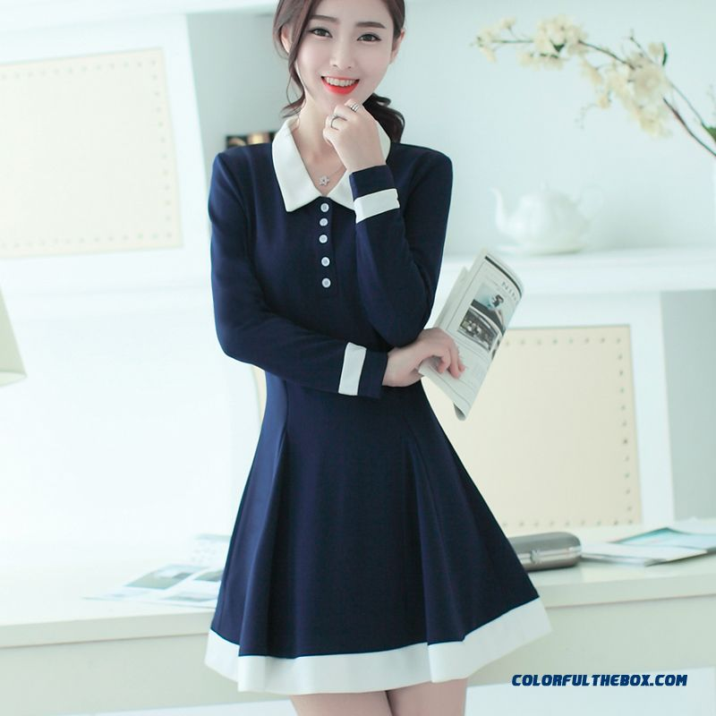 New Autumn Women Dress Large Size Long Sleeve Popular In Europe And America