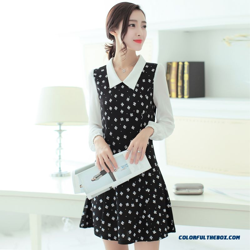 New Autumn Women Dress Long Sleeve Sweet Slim Popular In Europe And America - more images 3