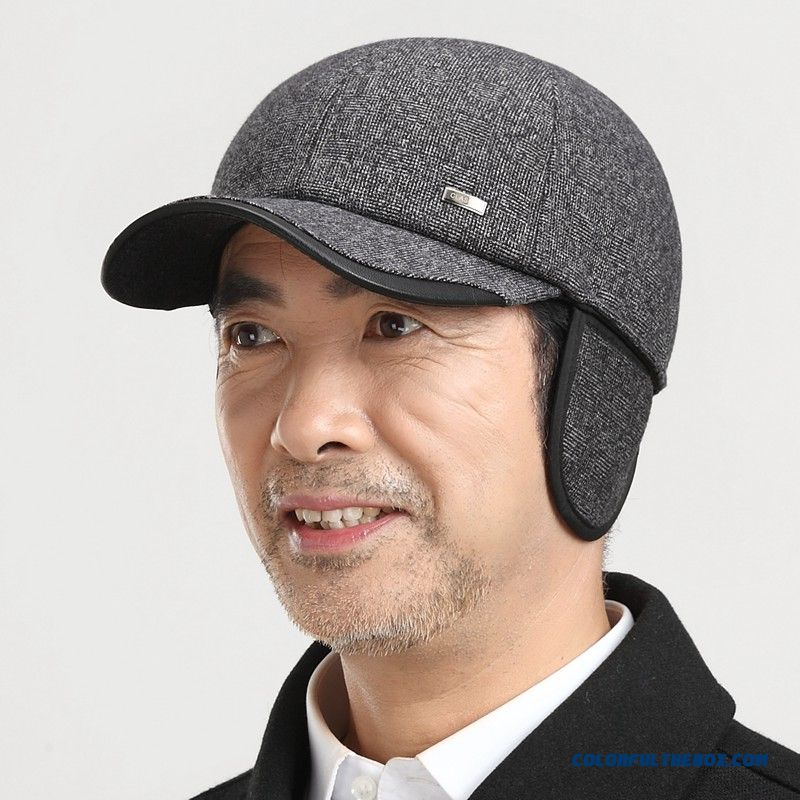 New Best Creative Design Men s Thick Warm Winter Hat Baseball Cap With  Protect Ear Function ... dac7fe7268a